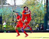 Eugene Magee and Jonny McKee celebrates making it 2-0