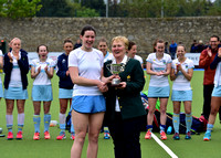 Clodagh Cassin presented goalkeeper of the tournament by Hockey Ireland's Ivy Dennis