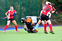 Emma Buckley attempts a save