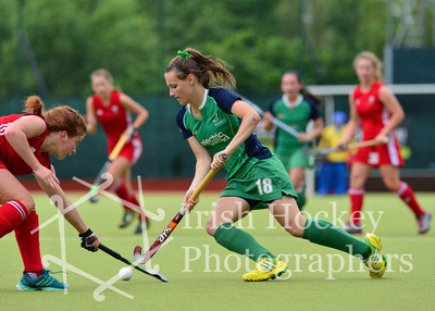 Irish Hockey Photographers: Ireland v Wales, July 4 2014, Under-16 Girls international &emdash;