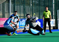 John Tormey dives to attempt a save